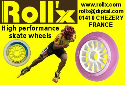 Roll'X roue roulement roller et skiroue